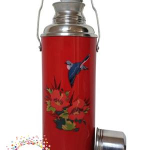 Rode fles met zwaluw