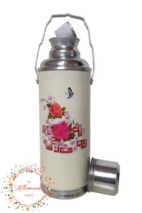 Crème fles met rozen