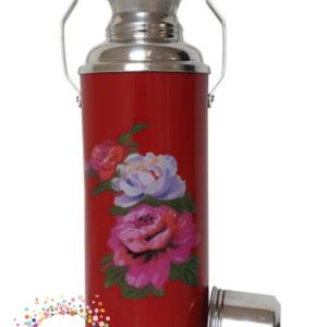 Rode fles met rozen